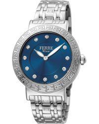 Ferrè Milano - Women's Silver Dial Stainless Steel Watch - Lyst