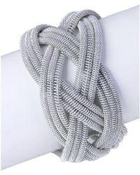 Saachi - Silver Springs Crossed Bracelet - Lyst