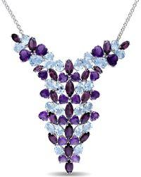 Julianna B - Amethyst-africa Rhodolite-garnet Blue Topaz - Sky Necklace - Lyst