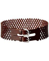 Linea Pelle - Women's Vintage Mesh Perforated Leather Waist Belt - Lyst