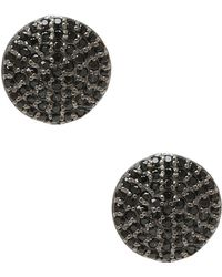 Adornia - Black Spinel And Sterling Silver Anika Earrings - Lyst