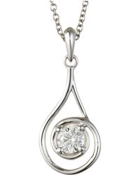 Charles & Colvard - Forever Classic Round 4.5mm Moissanite Drop Pendant, 0.33ct Dew - Lyst