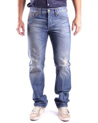 John Galliano - Men's Blue Cotton Jeans - Lyst
