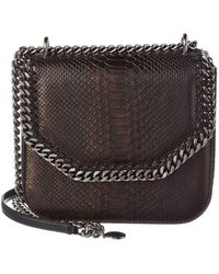 Stella McCartney - Falabella Box Python-embossed Shoulder Bag - Lyst