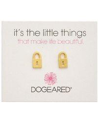 Dogeared - It's The Little Things 14k Over Silver Earrings - Lyst