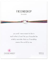 Dogeared - Friendship Silver Adjustable Bracelet - Lyst