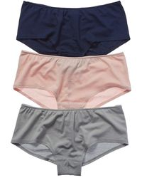 Only Hearts - 3pk Ruched Back Hipster Knickers - Lyst