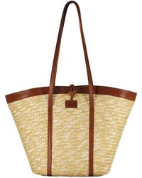 Most Wanted Usa - Basket Straw Tote - Lyst