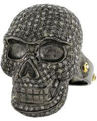 Socheec - Diamond Skull Cocktail Ring - Lyst