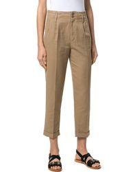 Aspesi - Women's Beige Cotton Pants - Lyst