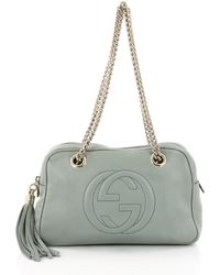Gucci - Pre Owned Soho Chain Zipped Shoulder Bag Leather Small - Lyst 8ae873dd45e96