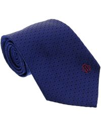 Roberto Cavalli - Esz049 04517 Royal Blue 100% Silk Chevron Tie - Lyst