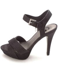 G by Guess - Womens Cenikka2 Open Toe Ankle Strap Platform Pumps - Lyst