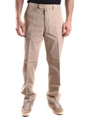 GANT - Men's Mcbi131116o Beige Cotton Pants - Lyst