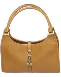 Gucci - Pre Owned - Brown Leather Jackie Shoulder Bag - Lyst