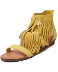 Madden Girl - Womens Acee Citron Open Toe Casual Strappy Sandals - Lyst