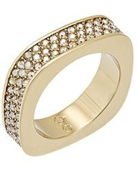 Swarovski - Crystal Vio Plated Stainless Steel Ring - Lyst