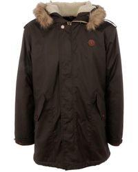 Fred Perry - Men's Green Polyester Outerwear Jacket - Lyst