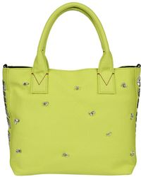 Pinko - Women's Yellow Leather Tote - Lyst