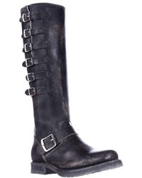 Frye - Veronica Belted Tall Multi Buckle Strap Boots - Black - Lyst