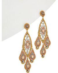 Miguel Ases - 14k Filled Crystal Drop Earrings - Lyst