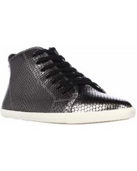 Marc Jacobs - Marc By Cara Hi Top Lace Up Fashion Sneakers - Gunmetal - Lyst