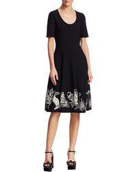 Alexander McQueen - Assorted Embroidered A-line Dress - Lyst