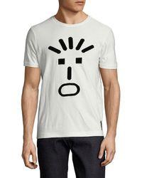 Fendi - Velvet Face T-shirt - Lyst