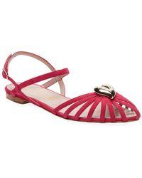 Aperlai - Heart Leather Ankle-strap Sandal - Lyst