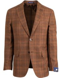 Pal Zileri - Sartoriale Brown Linen Blend 2 Button Sport Coat - Lyst