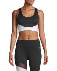 Body Language - Sportswear Cropped Colorblocked Tank Top - Lyst
