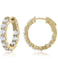 Diana M. Jewels - 18k Yellow Gold 20 Round Cut Diamonds With 4.30 Carats Of Total Diamond Weight - Lyst