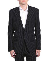 Versace - Collection Men's Pinstripe Two-piece Viscose Suit Black/white - Lyst