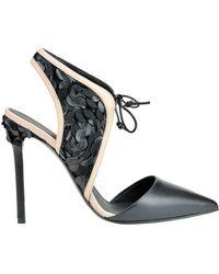 Greymer - Women's Black Leather Heels - Lyst