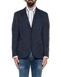 Boglioli - Men's Blue Cotton Blazer - Lyst