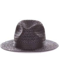 Armani - Women's Black Canvas Hat - Lyst