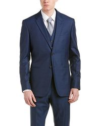 Reiss - 3pc Fury Modern Fit Wool Suit With Flat Front Pant - Lyst