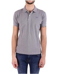 La Martina - Men's Grey Cotton Polo Shirt - Lyst
