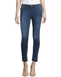 Karl Lagerfeld - Released Hem Ankle Skinny Jeans - Lyst