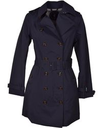 Save The Duck - Women's Blue Cotton Trench Coat - Lyst