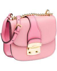 Miu Miu - Pink Madras Matelasse Small Flap Crossbody Shoulder Bag - Lyst