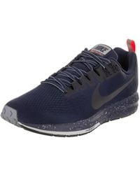 35c08bc2aeb Lyst - Nike Men s Air Zoom Structure 21 Shield Running Shoe in Black ...