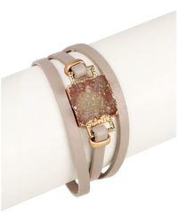 Saachi - Square Druzy Bracelet - Lyst