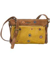 Desigual - Women's Brown Polyester Shoulder Bag - Lyst