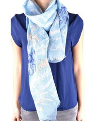 Altea | Women's Light Blue Linen Scarf | Lyst