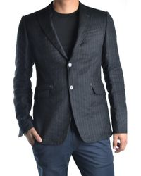 CoSTUME NATIONAL | Men's Mcbi074007o Grey/black Wool Blazer | Lyst