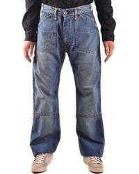 Evisu - Men's Blue Cotton Jeans - Lyst