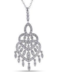 Catherine Malandrino - Diamond Chandelier Pendant With Chain - Lyst