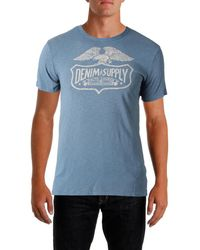 2397e67685 Lyst - Denim   Supply Ralph Lauren Men s Flag-placket Henley in Blue ...