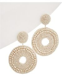 Kenneth Jay Lane - Resin Circle Drop Earrings - Lyst